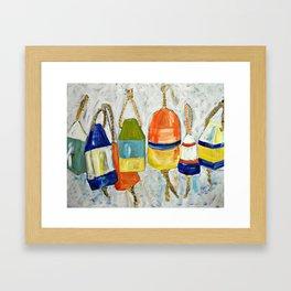 Lobster Buoys Framed Art Print