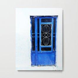 Greek Blue Metal Print