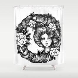 Ink Girl Design - 14.05.17 03 Shower Curtain