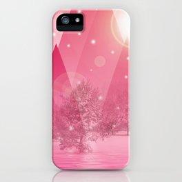 Magic winter pink iPhone Case