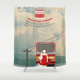 Yihui in jeux d 'enfants Shower Curtain