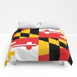 Maryland State Flag Art Print Comforters