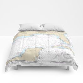 Gulf of Mexico Authentic Nautical Chart No. 411 Comforters