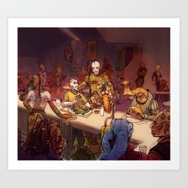 The Mos Emos Cantina Art Print