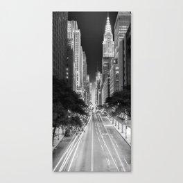 42nd street Manhattan at dawn Canvas Print