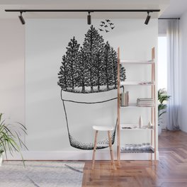 Potted Forest Wall Mural