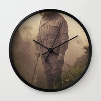 jungle Wall Clocks featuring Jungle Jaguar by Chase Kunz