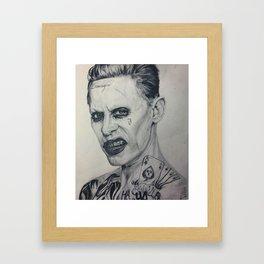 Jared Leto Joker Framed Art Print