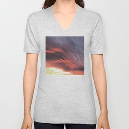 That Once in a Lifetime Sunset Unisex V-Neck