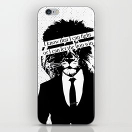 Let the lion win iPhone Skin