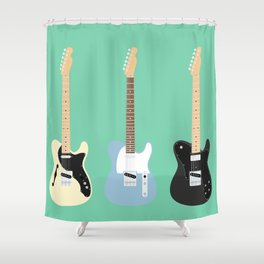 Flat Telecaster custom 6 Shower Curtain