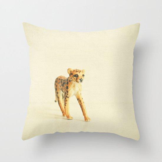 Catwalk Cheetah Throw Pillow