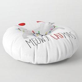 Meowy Catmas Floor Pillow