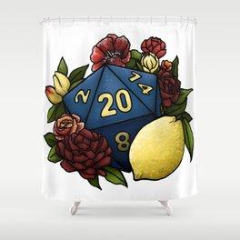 Marsala Lemon D20 Tabletop RPG Gaming Dice Shower Curtain