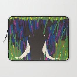 Air Afrique Mid Century Modern Colorful Elephant Savanna Laptop Sleeve