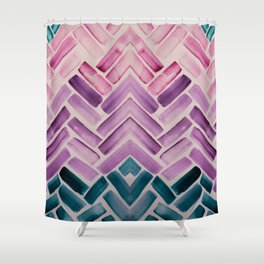 Decor Colorful Watercolor Abstract Pattern Shower Curtain
