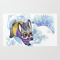 jackalope Area & Throw Rugs featuring January Jackalope by JoJo Seames