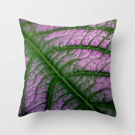 Violet Leaf Throw Pillow