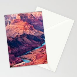 View of the Colorado River and Grand Canyon Stationery Cards