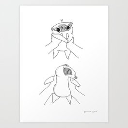 baby Mochi Art Print