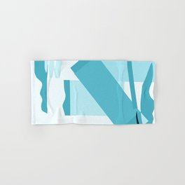 Matisse Inspired Teal Collage Hand & Bath Towel