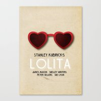 lolita Canvas Prints featuring Lolita by Linda Hordijk