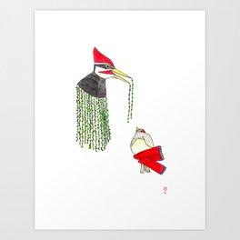 Woody and the Bird Art Print