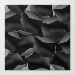 Black Fade Cubes Canvas Print