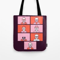 wes anderson Tote Bags featuring Bill x Wes by Spencer Frühling