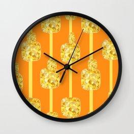 ABSTRACT YELLOW  CITRINES NOVEMBER  BIRTHSTONES ART Wall Clock