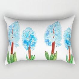 blue hyacinth Rectangular Pillow