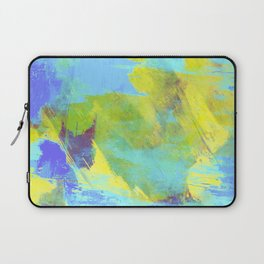 Hint Of Summer - Abstract, textured painting Laptop Sleeve