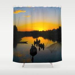 Hoi An Sunset Shower Curtain