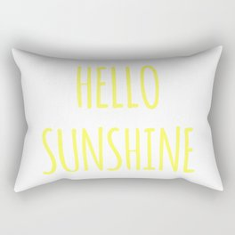Hello sunshine funny hipster saying quote modern simple typography font art print Rectangular Pillow