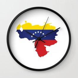 Venezuela - venezuelan heart - flag design Wall Clock