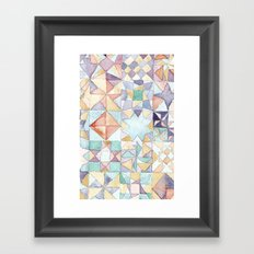 watercolour quilt Framed Art Print