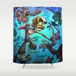 Fighting Goblins Shower Curtain