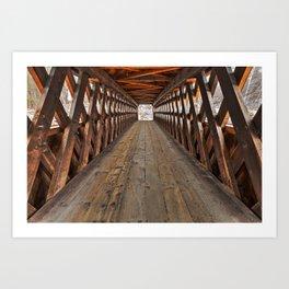 Jack O'Lantern Covered Bridge Art Print