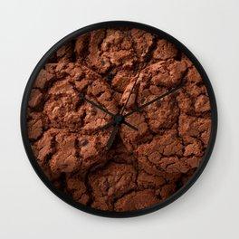 Group of dark chocolate cookies Wall Clock