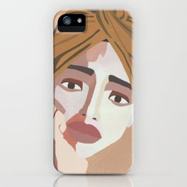 MAJE // Woman with Headwrap iPhone Case