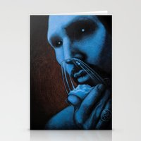 cocaine Stationery Cards featuring Cocaine Blue by Michal Szyksznian