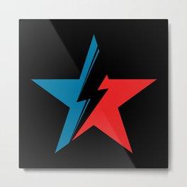 Bowie Star black Metal Print