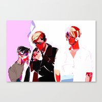 snk Canvas Prints featuring SNK Broken Boys by rhymewithrachel