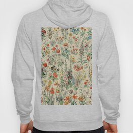Wildflower Diagram // Fleurs II by Adolphe Millot XL 19th Century Science Textbook Artwork Hoody