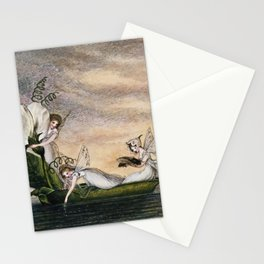 """Fairies Floating Downstream"" by Amelia Jane Murray Stationery Cards"