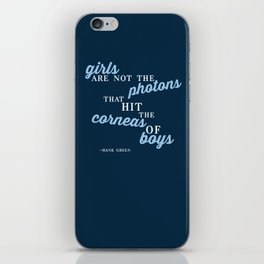 Girls Are Not Photons iPhone Skin