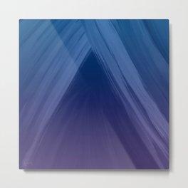 Acclaim 2 Blue Indigo Purple - Abstract Art Series by Jennifer Berdy Metal Print