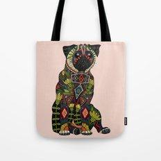 pug love pale dogwood Tote Bag