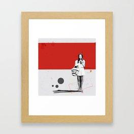 June   Collage Framed Art Print