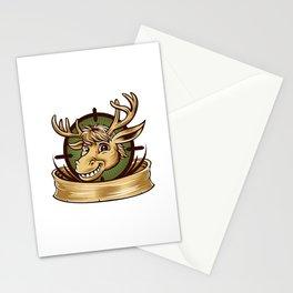 Cartoon Deer mascot  Stationery Cards